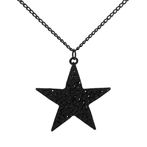 Rock Style Lovely Black Star Pendant Necklace for Women