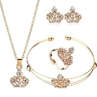 Elegant Gold Color Jewelry Sets For Women