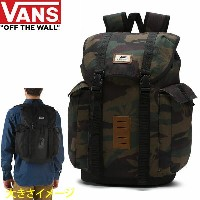 VANS バンズ リュック OFF THE WALL BACKPACK PEACE LEAF CAMO 30L バンズ バッグ バックパック【w21】