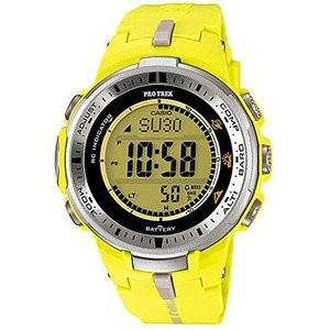 腕時計 カシオ Casio Men's PRW-3000-9BDR Pro Trek Digital Display Quartz Yellow Watch【並行輸入品】