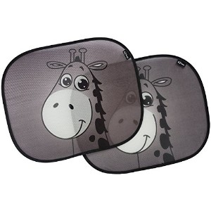 Car sun shades, premium giraffe design sunshade by EZ-Bugz, 2 pieces, shade & protect baby infant...