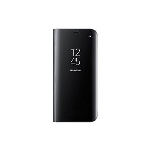 Samsung 純正品 Galaxy S8 Clear View Standing Cover EF-ZG950 (クリアビュースタンディングカバー) Black/ブラック 並行輸入品