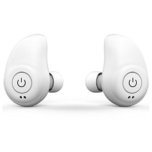 MOOQ Bluetooth ワイヤレス イヤホン iphone,androidを充電可能 バッテリーケース付 White