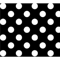 SheetWorld Fitted Pack N Play (Graco) Sheet - Primary Polka Dots Black Woven - Made In USA by...