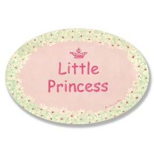The Kids Room by Stupell Little Princess with White Daisy Border Oval Wall Plaque by The Kids Room...