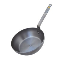 DeBuyer Mineral B Element Country Cheff Iron Pan, 9.4-Inch Round by De Buyer