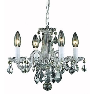 Elegant Lighting Rococo Chandelier, Crystal Clear by Crystal Lighting