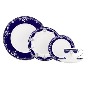 Lenox Marchesa Couture 5-Piece Place Setting, Empire Pearl Indigo by Lenox