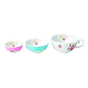 Royal Albert New Country Roses Baking Bliss Measuring Cups Set, White by Royal Albert