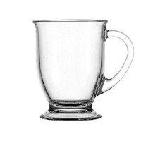 Anchor Hocking Glass 16 Ounce Cafe Mug, Set of 4 by TrueCraftware