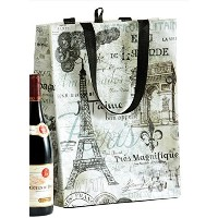 Reusable Shopping Tote - Vintage Paris Collage w/Script Design by DII by DII