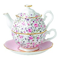 Royal Albert Rose Confetti Tea For One by Royal Doulton
