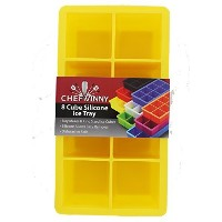 Chef Vinny Classic King Size Ice Cube Tray (8 Cube, Yellow) by Chef Vinny