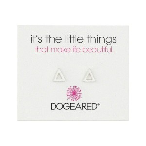 ドギャード Dogeared レディース アクセサリー イヤリング・ピアス【It's The Little Things Open Triangle Earrings】Sterling Silver