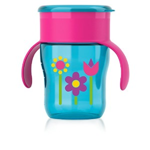 Philips Avent My Natural Drinking Cup, 9 Ounce, Pink/Purple/Blue, Stage 4 by Philips AVENT