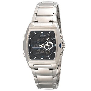 Casio Efa120d-1a Edifice Mens 100m Stainless Steel Dress Watch Thermometer【並行輸入】