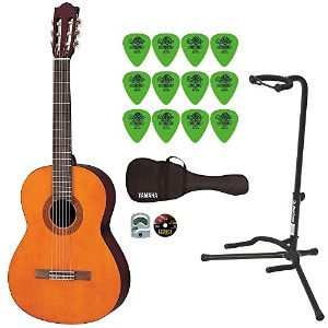 Yamaha ヤマハ C40 Gigmaker Classic Guitar Package with On Stage Guitar Stand and Dunlop ギターピック 12-Pack...