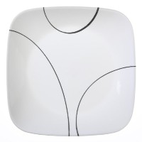Corelle Square Simple Lines Lunch Plate Set, by CORELLE