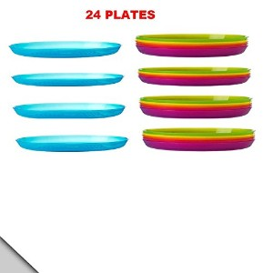 IKEA - KALAS Plate, Assorted Colors (Set of 24) by Ikea