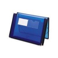 Two Inch Expansion Ultracolor Wallet, Poly, Letter, Translucent Blue (並行輸入品)
