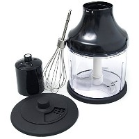 All-Clad XJ700042 Immersion Blender Mini Chopper and Whisk Attachments, Black by All-Clad