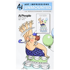 "Art Impressions People Cling Rubber Stamp 7""X4"" -Cake Popper Set (並行輸入品)"