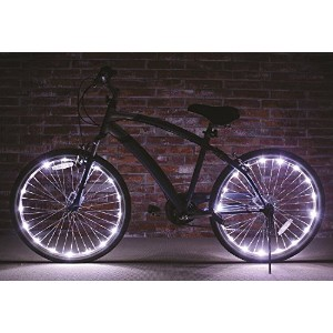 Wheel Brightz Lightweight LED Bicycle Safety Light Accessory White