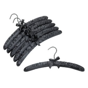 Black Satin Padded Hangers - Pack of (6) by Only Hangers [並行輸入品]