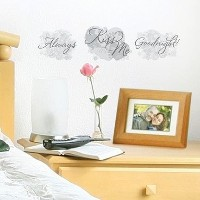 1 X Always Kiss Me Goodnight Wall Decal Sticker by Main Street Creations