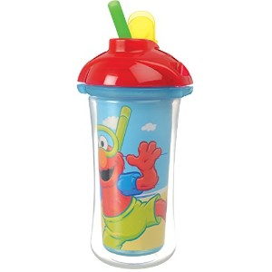 Munchkin, Sesame Street, Insulated Straw Cup, 9 oz (266 ml)