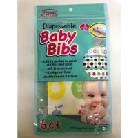 4 Pack- Disposable Baby Bibs - Ideal for Home & Travel, 6 Ct x 4= Total 24ct (Parent Select) by...