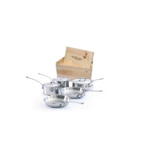 Mauviel Made In France M'cook 5210.03wc Crated 8-Piece Set with Cast Stainless Steel Handles by...