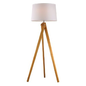 Dimond Lighting D2469 Wooden Tripod Floor Lamp, Natural Wood Tone by Dimond Lighting [並行輸入品]
