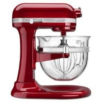 KitchenAid Professional 6500 - 6 Qt Glass Bowl Stand Mixer - KSM6521XCA - Candy Apple Red 並行輸入