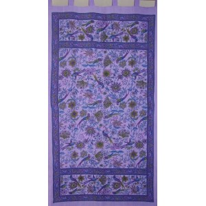 Birds of Paradiseタブトップcurtain-drape-panel-purple