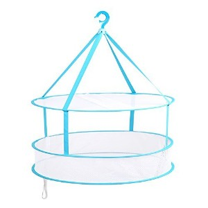 Portable Folding Drying Rack Hanging Clothes Laundry Hangers Dryer Net For Underwears Women...