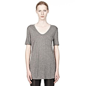 T by Alexander Wang (ティーバイアレキサンダーワン)Tby クラシック ポケット Tシャツ Vネック ヘザーグレー Classic Tee with POCKET 400200C...