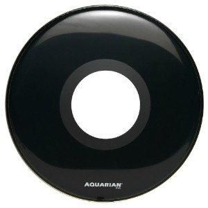 Aquarian Classic Clear Front Head Large Centre Port Noir brillant  20 pouce (50,8 cm) (Import...