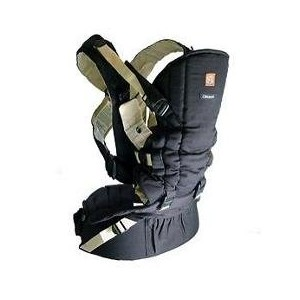Okkatots Baby Carrier System Black with Tan Trim by OKK A TOTS