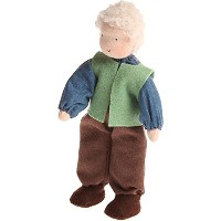 Grimm's Grandmother Handcrafted European Waldorf-Style Small Poseable Flexible Doll