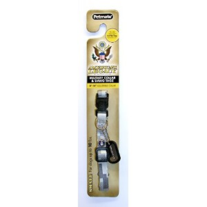 America's Legacy Camo Collar, Gray Air Force, 3/8-Inch By 8-14-Inch by Petmate