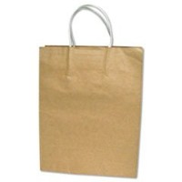 COSCO Products - COSCO - Premium Large Brown Paper Shopping Bag 17h x 12w, 50/Box - Sold As 1 Box -...