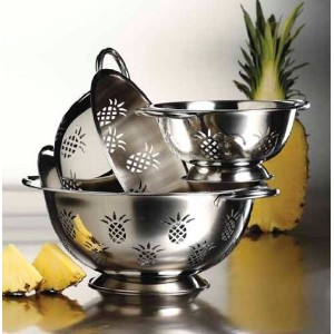 3 Pcs Stainless Steel Colander Set - High Qulaity Strainer Set (1 Qt, 3 Qt & 5 Qt) by Imperial Home
