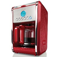 【並行輸入】BELLA ベラ社 13839 Dots Collection 12-Cup Programmable Coffee Maker, Red コーヒーメーカー