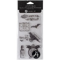 "Graphic 45 Clear Stamps 4""X8"" Sheet-Steampunk Spells 4 (並行輸入品)"