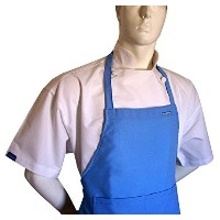 Chefskin Baby Blue Adult 2X XXL Chef Set (Apron+hat) Adjustable, Ultra Lite Fabric by CHEFSKIN