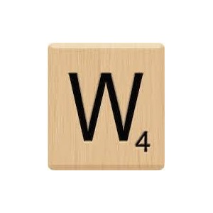 (10) GENUINE Scrabble Letter W Tiles, Scrabble for Crafts, Scrabble for Game Piece W, 10 Letter W,...