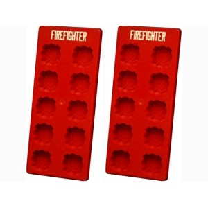 Firefighter Ice Cube Tray - Set of 2 by Ice Cubes