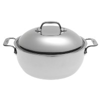 All-Clad BD55500 D5 Brushed 18/10 Stainless Steel 5-Ply Bonded Dishwasher Safe Dutch Oven with...