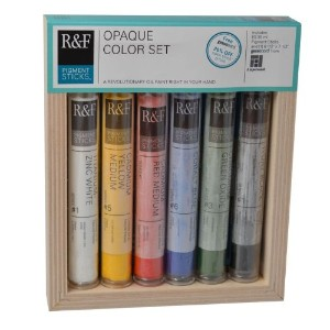 R&F Handmade Paints Pigment Sticks, Opaque Colors, Set Of 6 by R&F Handmade Paints